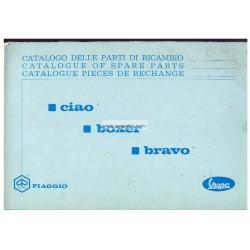 Catalogo delle parti di ricambio Piaggio Ciao, Piaggio Boxer, Piaggio Bravo, 1972