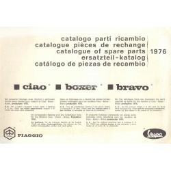 Catalogue de pièces détachées Piaggio Ciao, Piaggio Boxer, Piaggio Bravo, 1976