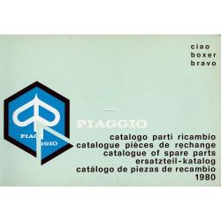Catalogue de pièces détachées Piaggio Ciao, Piaggio Boxer, Piaggio Bravo, 1980
