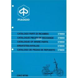 Catalogue de pièces détachées Piaggio CIAO MY99 mod. ZAPC 24000, 1999