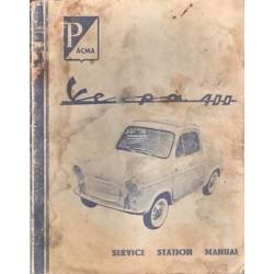 Werkstatthandbuch Vespa 400, Englisch