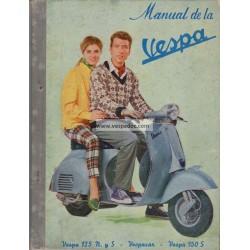 Manuale per Stazioni di Servizio Piaggio Ape Vespacar 150 cc y Vespa 125 N, 125 S, 150 S, Spagna