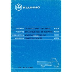 Catalogue de pieces Piaggio Ape MAX Diesel, AFD3T