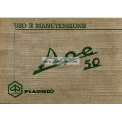 Operation and Maintenance Piaggio Ape 50 mod. TL1T, Italian