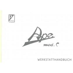 Werkstatthandbuch Piaggio Ape C, Deutsch