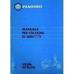 Workshop Manual Scooter Vespa PK 50 XL Rush mod. V5X4T, Italian