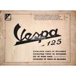 Catalogo delle parti di ricambio Scooter Vespa 125 VNA1T, Vespa 125 VNA2T, mod. 1957 - 1958