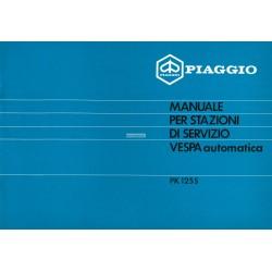 Manuale per Stazioni di Servizio Scooter Vespa PK Automatica, Vespa PK 125 S mod. VAM1T, Italiano