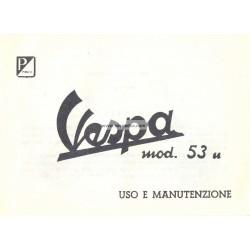 Manuale de Uso e Manutenzione Vespa 125 U, VU1T, Italiano