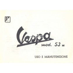 Operation and Maintenance Vespa 125 U, VU1T, Italian