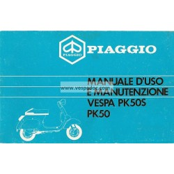 Operation and Maintenance Vespa PK 50 mod. V5X1T, PK 50 S mod. V5X2T, Italian