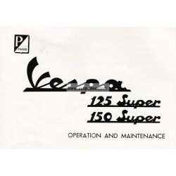 Bedienungsanleitung Vespa 125 Super mod. VNC1T, Vespa 150 Super mod. VBC1T, Englisch