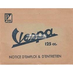 Manuale de Uso e Manutenzione Scooter Acma 125 mod. 1957, 1958