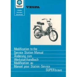 Manuale per Stazioni di Servizio Piaggio Super Bravo, EEV3T
