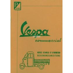Manuale de Uso e Manutenzione Piaggio Ape E0 125 mod. AE01T, Ape D 175 mod. AD1T, Ape E 150 mod. AE1T