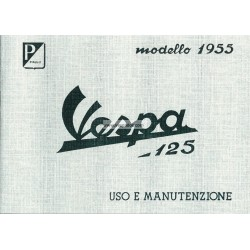 Operation and Maintenance Vespa 125 mod. VN1T, VN2T, Italian