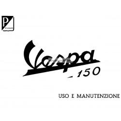 Manuale de Uso e Manutenzione Vespa 150 mod. VB1T, Italiano