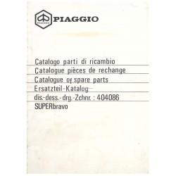 Catalogo de piezas de repuesto Piaggio Super Bravo, mod. EEV3T, 1985