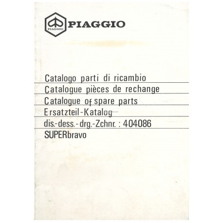Catalogue of Spare Parts Piaggio Super Bravo, mod. EEV3T, 1985