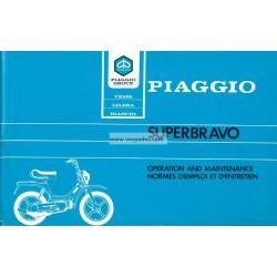 Normas de Uso e Entretenimiento Piaggio SuperBravo, mod. EEV3T