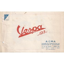 Advertising for Scooter Acma 1950