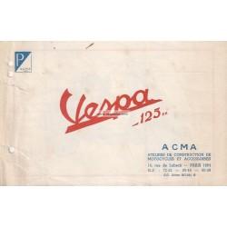Anuncio para Scooter Acma 1950