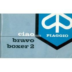 Notice d'emploi Piaggio Ciao, Piaggio Bravo, Piaggio Boxer 2, 1972