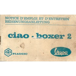 Manuale de Uso e Manutenzione Piaggio Ciao, Piaggio Boxer 2, 1972