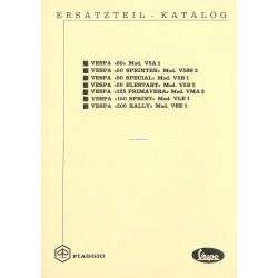 Catalogue of Spare Parts Scooter Vespa V5A1T, V5SS2T, V5B1T, V5B2T, VMA2T, VLB1T, VSE1T, German