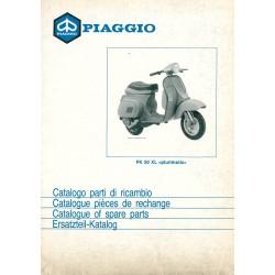 Catalogue de pièces détachées Scooter Vespa PK 50 XL Plurimatic mod. VA52T, 1986