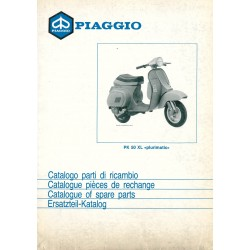 Catalogue of Spare Parts Scooter Vespa PK 50 XL Plurimatic mod. VA52T, 1986