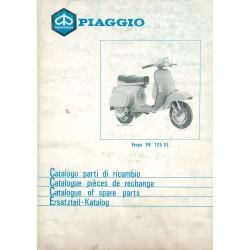 Catalogo delle parti di ricambio Scooter Vespa PK 125 XL mod. VMX6T, 1986