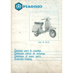 Catalogue of Spare Parts Scooter Vespa PK 125 XL mod. VMX6T, 1986
