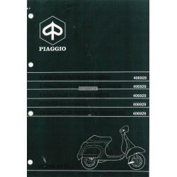 Catalogo de piezas de repuesto Scooter Vespa 50 FL2, Vespa 50 V5N1T, Vespa 50 HP V5N2T, 1990