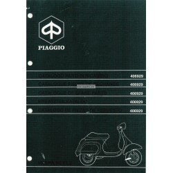 Catalogue de pièces détachées Scooter Vespa 50 FL2, Vespa 50 V5N1T, Vespa 50 HP V5N2T, 1990