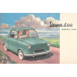 Advertising for Vespa 400 Modèle 1959