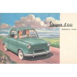 Anzeigen fur Vespa 400 Modèle 1959