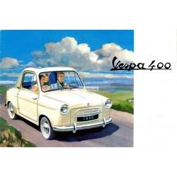 Publicité pour Vespa 400 Modèle 1958
