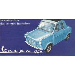 Publicité pour Vespa 400