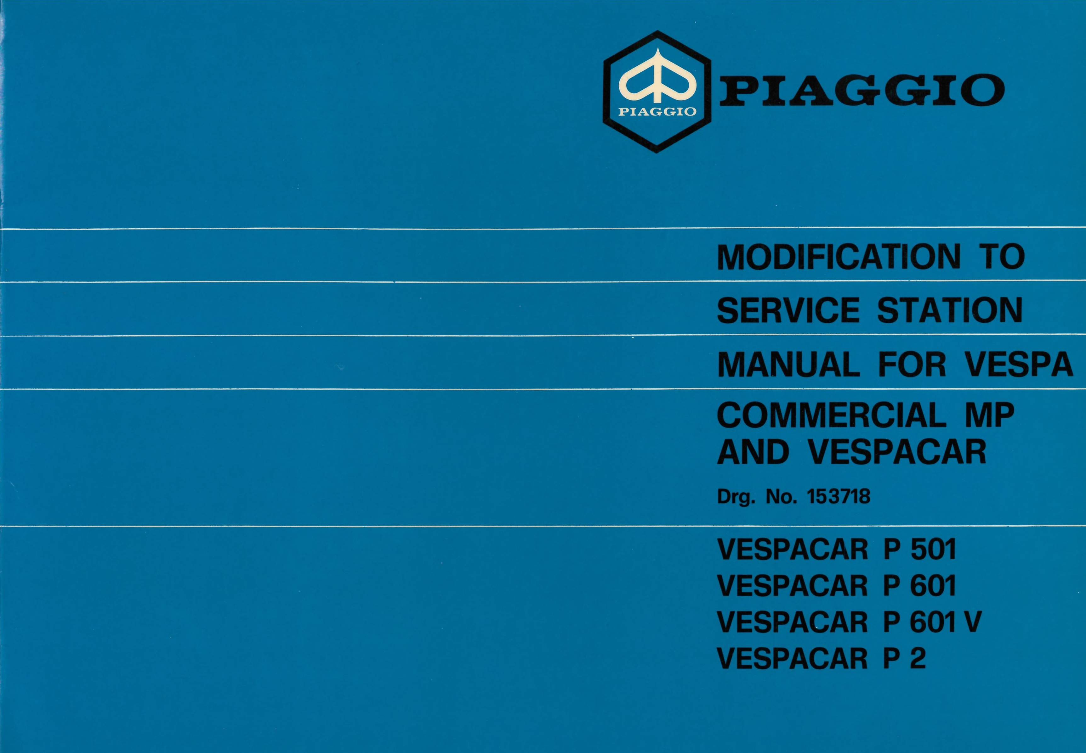 Service Station Manual Piaggio Ape Mp P501 Mpr2t P601 Mpm1t P601v 50 Elestart Model V5a3t Wiring Diagram All About Diagrams Mpv1t Vespacar P2 Af1t English Vespadoc
