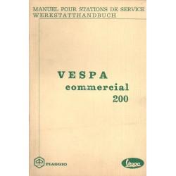 Manuale per Stazioni di Servizio Piaggio Ape 50 TL1T, Vespa Commercial 200 TL1T