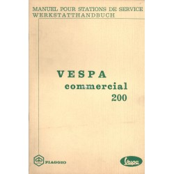 Manuel Technique Piaggio Ape 50 TL1T, Vespa Commercial 200 TL1T
