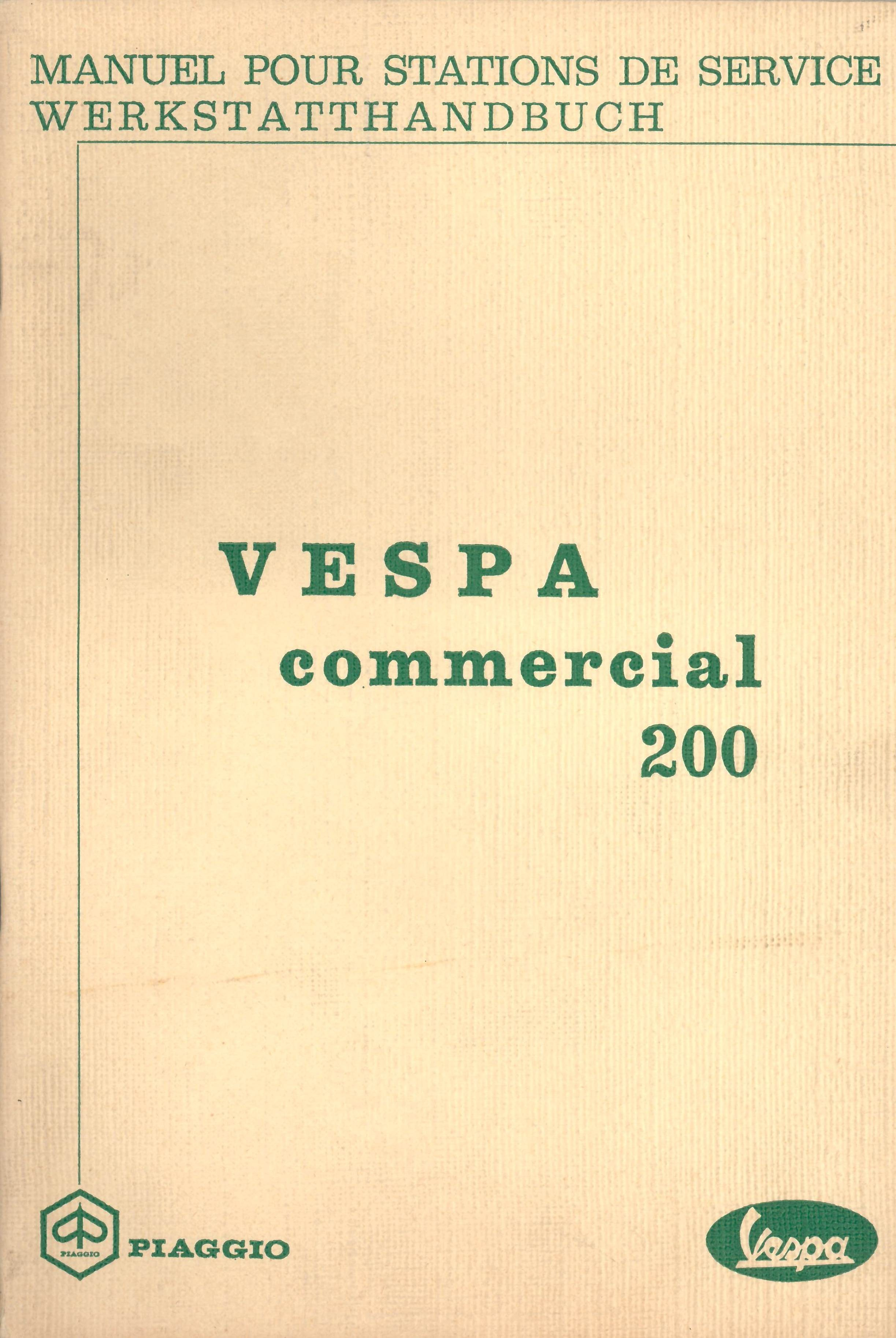 Workshop Manual Piaggio Ape 50 TL1T, Vespa Commercial 200 TL1T - Vespadoc