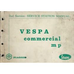 Manuale Stazioni Piaggio Ape MP, Ape 550 MPA1T, Ape 500 MPR1T, Ape 600 MPM1T, Ape 600 MPV1T, Vespacar P2 AF1T, Inglese