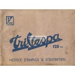 Notice d'emploi TriVespa Acma 125cc, Ape Acma