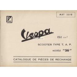 Catalogo delle parti di ricambio Scooter Vespa TAP
