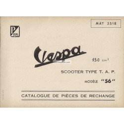 Catalogue of Spare Parts Scooter Vespa TAP