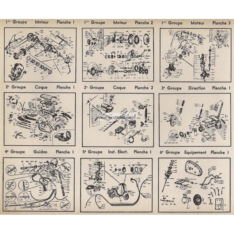Catalogo de piezas de repuesto scooter vespa tap vespadoc for Piezas de fontaneria catalogo