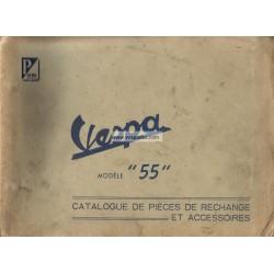 Catalogo de piezas de repuesto Scooter Acma 1955, 1956, 1957, 1958