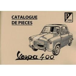 Catalogo delle parti di ricambio Vespa 400